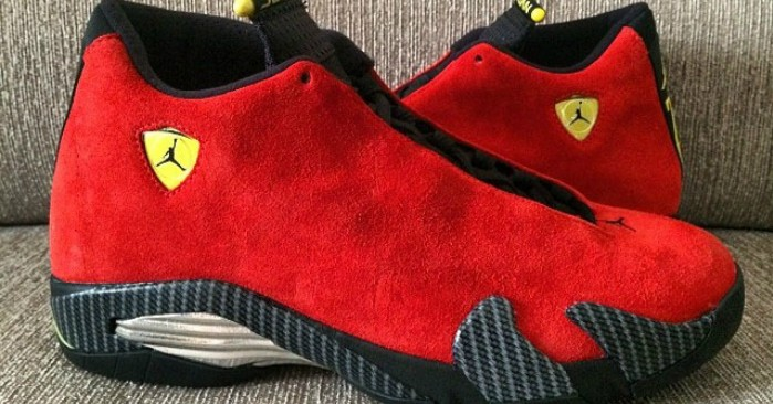 "air-jordan-14-retro-ferrari-red-suede-01-699x366 Air Jordan 14 ""Ferrari"" (Photo & Release Dates)"