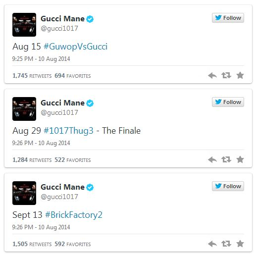 g1 Chief Keef And Gucci Mane Reveal Release Date For Their Upcoming Collaborative Mixtape 'Big Gucci Sosa'