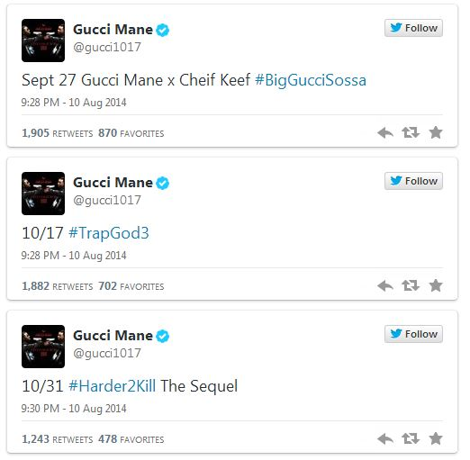 g2 Chief Keef And Gucci Mane Reveal Release Date For Their Upcoming Collaborative Mixtape 'Big Gucci Sosa'