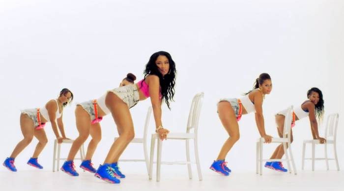 nicki-minaj-anaconda-air-jordan-vi-6-game-royal-02 Nicki Minaj's 'Anaconda' Visual Sets New VEVO Record!