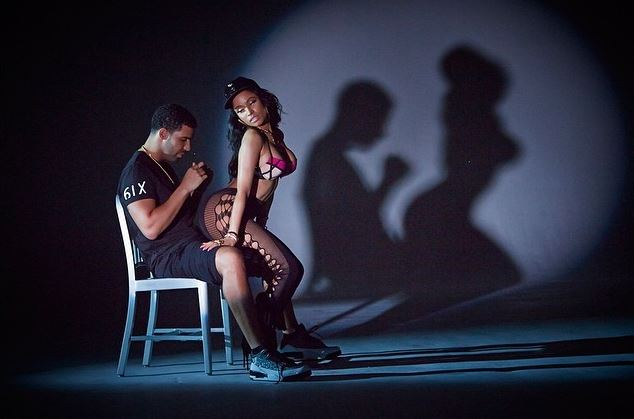 nickidrake1 Nicki Minaj & Drake   Anaconda (Behind The Scenes) (Photos)
