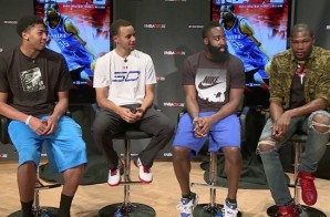 Kevin Durant x Steph Curry x James Harden x Anthony Davis Discuss NBA2k15 (Video)