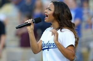 Christina Milian Sings The National Anthem At The Dodgers Game (Video)