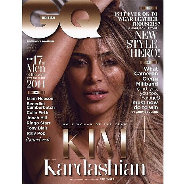 KK1 Kim Kardashian Covers GQs 2014 Woman Of The Year Issue (Photos)