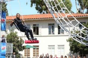 "Usher Takes Part In Ellen's ""American Ninja Warrior"" Challenge (Video)"