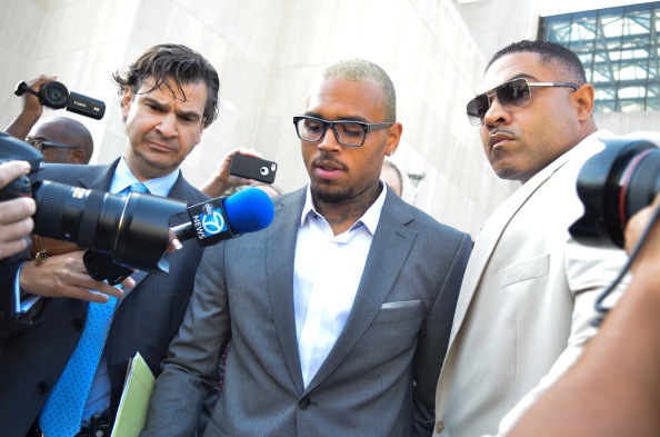chris brown pleads guilty getty Chris Brown Pleaded Guilty This Morning To His D.C. Assault Case (Video)