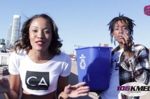 Watch Wiz Khalifa Dump A Bucket Of Ice On 106KMEL's Own Shay Diddy For The ALS Challenge!