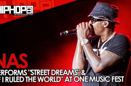 """Nas Performs """"Street Dreams"""" & """"If I Ruled The World"""" At One Music Fest (Video)"""