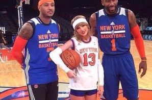 Taylor Swift Appears At Knicks' Practice With Carmelo Anthony and Amar'e