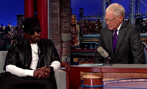 Andre 3000 On Playing Jimi Hendrix (Live On David Letterman) (Video)