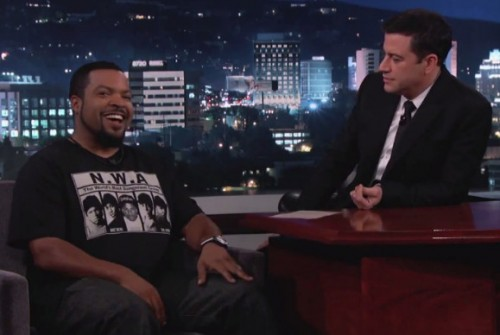 Screen-Shot-2014-10-21-at-4.45.04-PM-1-500x335 Ice Cube Discusses Upcoming N.W.A. Movie & More On Jimmy Kimmel Live (Video)