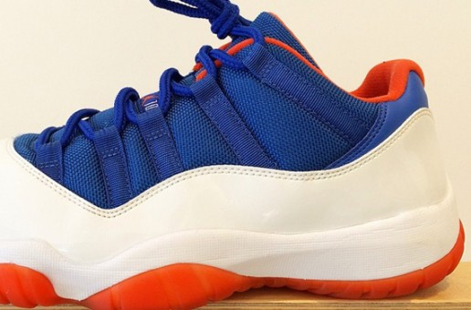 "Air Jordan 11 Low ""Knicks"" (Photo)"