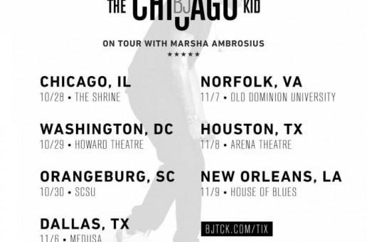 BJ The Chicago Kid Joins Marsha Ambrosius For The Remainder Of Her North American Tour!