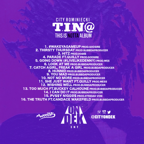 city-rominiecki-t-i-n-a-this-is-notta-album-mixtape-HHS1987-2014-TRACKLIST City Rominiecki - T.I.N.A. (This Is Notta Album) (Mixtape)