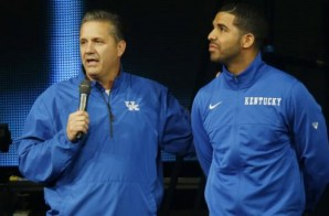 Drake & His Lint Roller Join Coach Calipari & The Kentucky Wildcats For Big Blue Madness (Video)