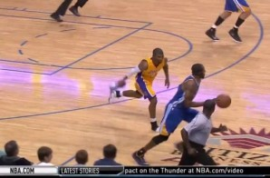 Los Angeles Lakers Guard Ronnie Price Loses Shoe & Throws It At Andre Iguodala (Video)