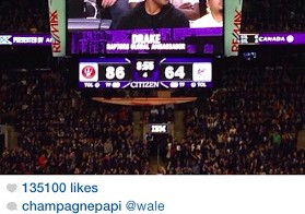 Drake Calls Out Wale After The Toronto Raptors Beat The Washington Wizards (Photo)