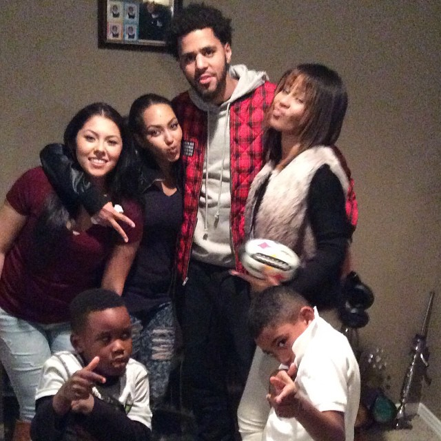 J Cole Family J. Cole Give's One L...