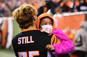 Daddy's Little Girl: Leah Still Attends The Cleveland Browns vs Cincinnati Bengals Game To See Her Dad Play For The First Time (Video)