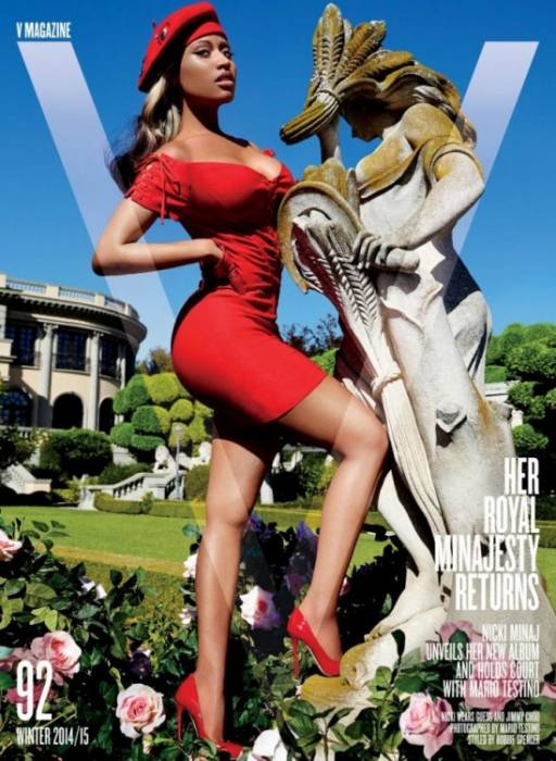 N1 Nicki Minaj Covers V Magazine's 2014 Winter Issue!