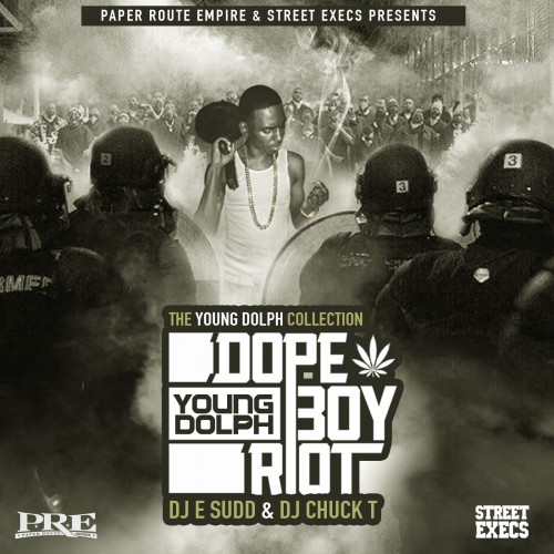 cover8 Young Dolph - Dope Boy Riot (The Young Dolph Collection) (Mixtape) (Hosted by DJ E Sudd & DJ Chuck T)