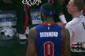 Spelling Bee: The Detroit Pistons Misspell Andre Drummond's Name On His Uniform (Photos)