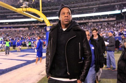 Jay-Z With The Sideline View At Giants vs. Cowboys Game