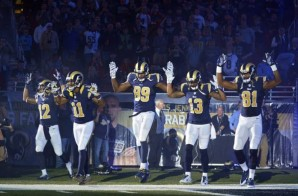 "The St. Louis Rams Take The Field Supporting The ""Hands Up, Don't Shoot"" Movement (Video)"