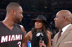 Love & Basketball: Gabrielle Union Videobombs Dwyane Wade's Postgame Interview (Video)