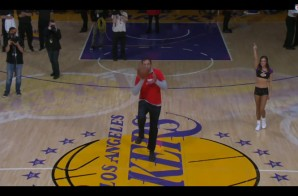 Vlade Divac Wins $90,000 For Charity Sinking A Half Court Shot During Halftime Of The Lakers Game (Video)