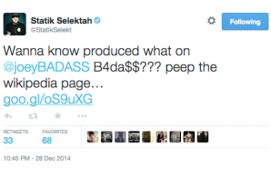 Statik Selektah Reveals Producers For Joey Bada$$ Upcoming 'B4.Da.$$' LP!