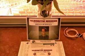 The Washington Redskins Honor Sports Writer Bryan Burwell With Empy Seat & Flowers In Press Box (Photos)