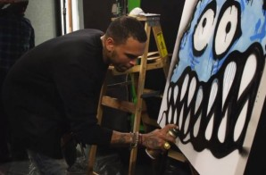 Chris Brown Spray Paints For Hot 97 (Video)