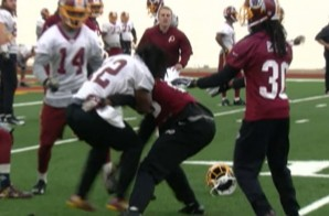 Washington Redskins Andre Roberts & Bashaud Breeland Fight During Practice (Video)