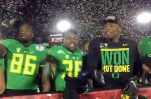 "Classless Ducks: Oregon Players Chant ""No Means No"" Mocking Jameis Winston After Defeating FSU (59-20) (Video)"