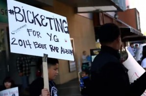 YG Fans Protest His Grammy Snub In Front Of The Grammy Museum In Los Angeles