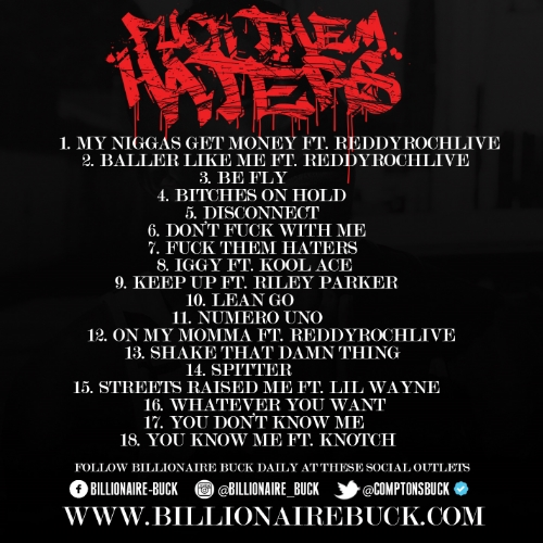 billionaire-buck-fuck-them-haters-mixtape-tracklist-HHS1987-2015 Billionaire Buck - Fuck Them Haters (Mixtape)
