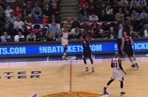 Derrick Rose Sinks A Half-Court Shot To Beat The Buzzer Heading To Halftime (Video)