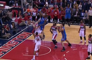 I Believe I Can Fly: Kevin Durant Takes Flight Dunking On Wizards Big Man Marcin Gortat (Video)