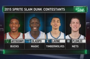 Giannis Antetokounmpo, Zach LaVine, Victor Oladipo & Mason Plumlee Set To Take Flight In The 2015 NBA Slam Dunk Contest