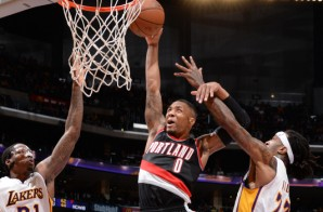 Damian Lillard Slams Home the Sweet Lob As The Blazers Defeat The Lakers (106-94)