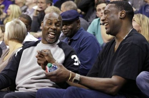 Gary Payton and Shawn Kemp Reunite To Watch Sons Play College Hoops (Photo)