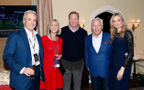 kraft-goodell1 Family Business: Richard Sherman Feels The Patriots Won't Be Punished Because Roger Goodell & Robert Kraft Are Friends