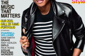 Pharrell Covers February 2015 Issue Of GQ Magazine!