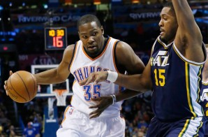Thunder Up: Kevin Durant Scores 32 As The Oklahoma City Thunder Defeat The Utah Jazz (99-94) (Video)