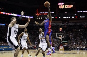 Brandon Jennings Scores The Game Winner As His Detroit Pistons Upset The San Antonio Spurs (105-104) (Video)