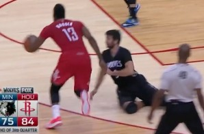 Finish Him: James Harden Drops Ricky Rubio With A Mortal Kombat-Like Crossover (Video)