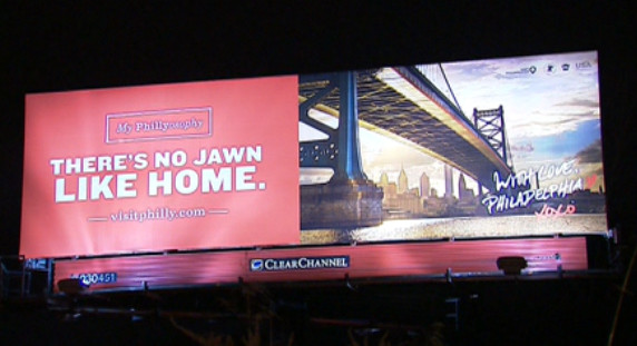 "B9DG7c7IYAACzBB.png-large-1 The City Of Philadelphia & VisitPhilly.com Unveil New ""There's No Jawn Like Home"" Billboards (Photos)"