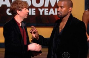 Kanye West Pretends To Interrupt Beck's 'Album Of The Year' Acceptance Speech At The Grammy's (Video)