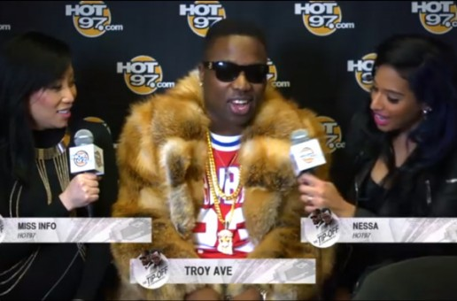 """Troy Ave Talks With Hot 97's Miss Info & Ness Nitty At """"Tip Off"""" During All-Star Weekend (Video)"""